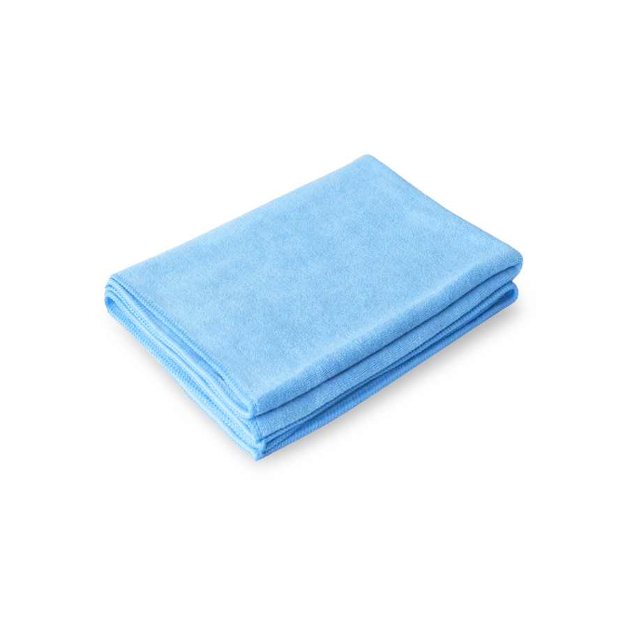 PROFI-MICROFASERTUCH Полотенце оверлоченное 55*80 см, ГОЛУБОЕ, 400гр/м2 для сушки авто Au-240