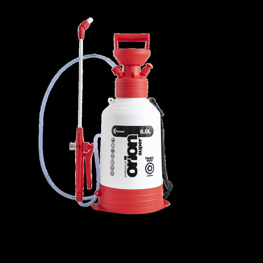 Распылитель Orion Super HD Acid line 6 л. (кислотный) Kwazar (красный) WTO.1289