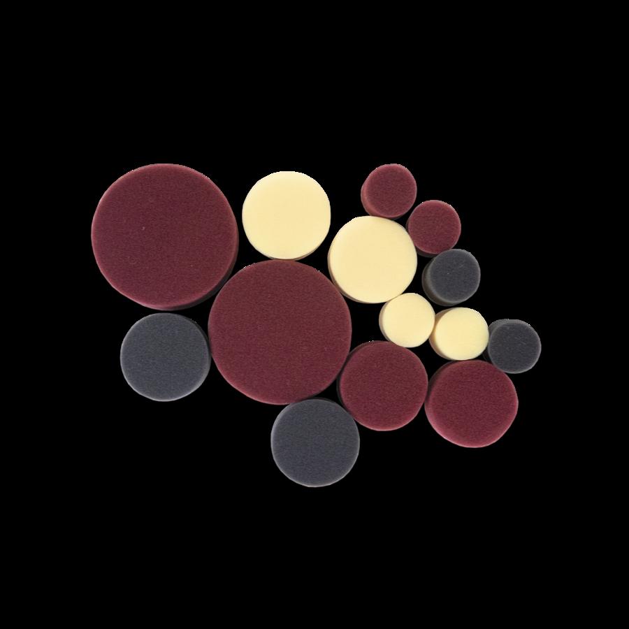 Набор кругов для полировки — поролон (14 шт.) Au-PS001