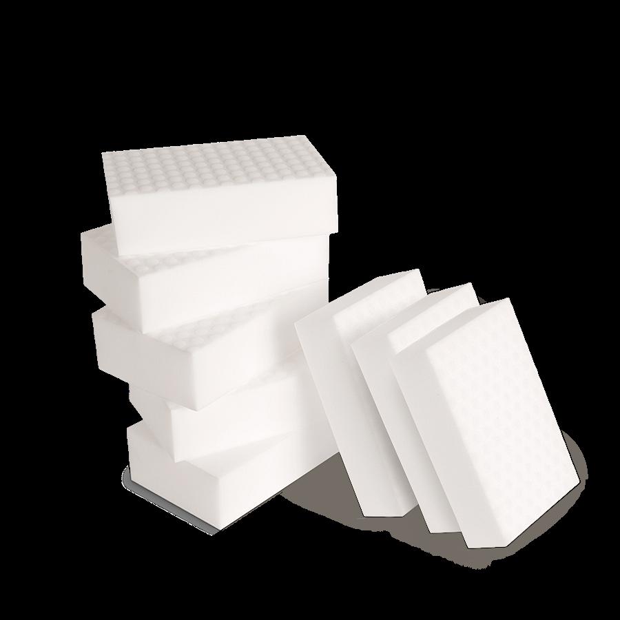Меламиновая губка высокой плотности 110х70х30 мм — упаковка 8 шт. Au-282